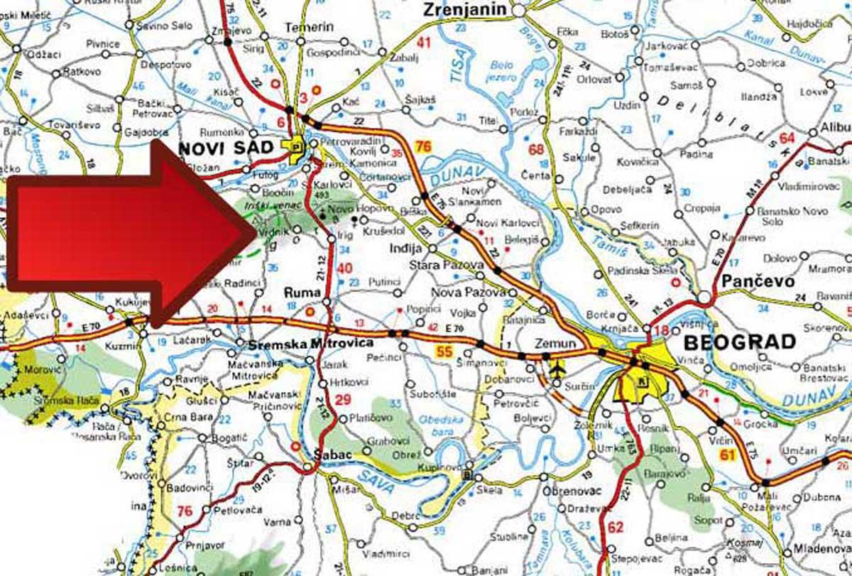 Mapa Banja Vrdnik